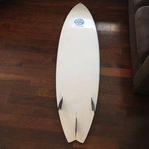Santa Cruz Surf Board Tuflite 6'3 with Fins